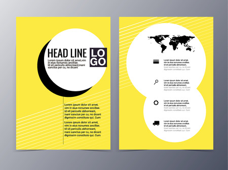 abstract  geometric pattern brochure design template vector tri-fold for use as company annual report, poster,flyer 矢量图像