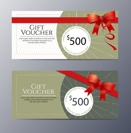 gift pattern: Gift voucher template with colorful pattern ,classic premium style vector illustration Illustration