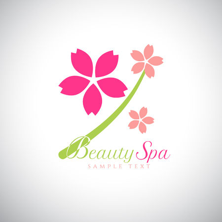 beauty in nature: Abstract design concept for beauty salon, massage, spa and cosmetic . Vector logo design template