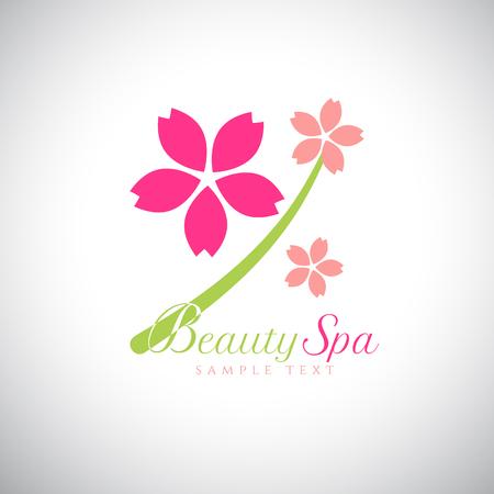 salon beauty: Concepto de dise�o abstracto para el sal�n de belleza, masajes, spa y est�tica. Vector logo plantilla de dise�o