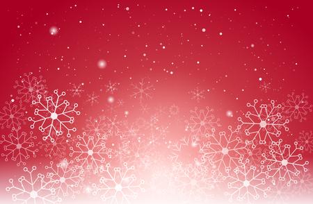 schneeflocke: Weihnachten Licht und Schneeflocken auf rotem Vektor-Hintergrund für Grußkarte oder Einladung.