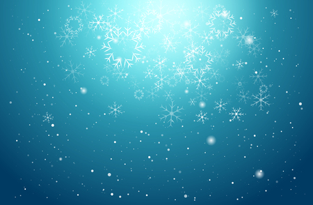 blue snowflakes: Christmas light and snowflake on blue vector background, for Card or invitation.