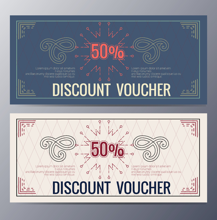blank template: Gift voucher template with colorful pattern and ethnic element,classic premium style