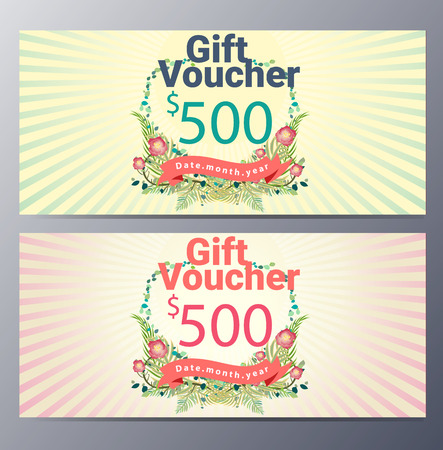etnic: Gift voucher template with vintage hand drawn  pattern ,classic premium style vector  illustration