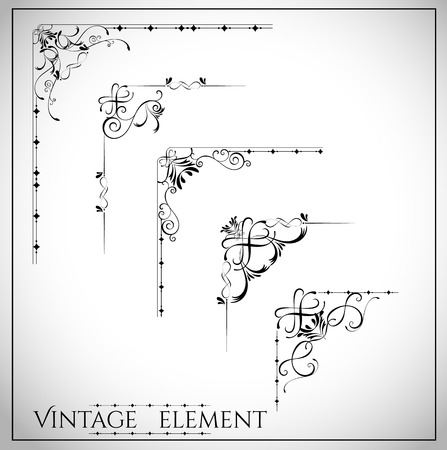 collection of page dividers and ornate headpieces vintage style vector illustration
