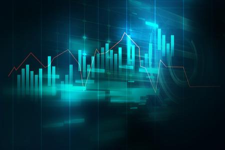 技術の抽象的な背景財務グラフ