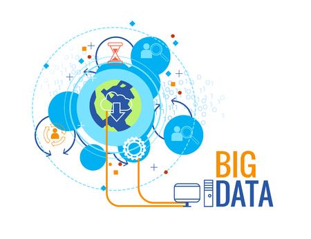 Big data business concept ,info graphic vector illustration