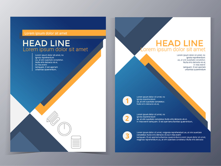 page layout: business and technology brochure design template in A4 size  for use as company annual report, poster.