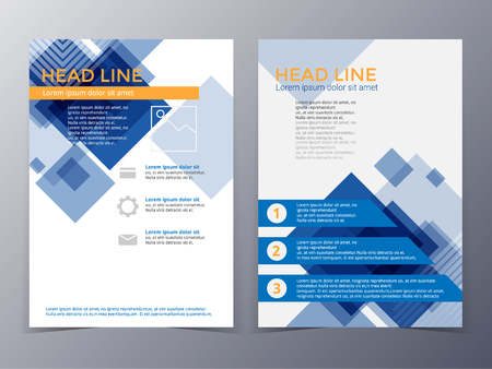 brochure: business and technology brochure design template in A4 size  for use as company annual  report, poster