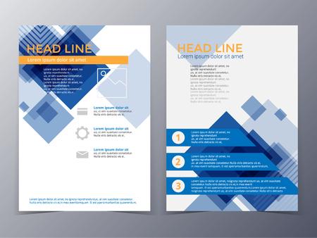 the brochure: plantilla de dise�o de folletos de negocios y tecnolog�a de tama�o A4 para su uso como el informe anual de la compa��a, cartel Vectores