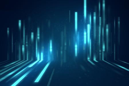 ブルーの幾何学的な抽象的な科学・技術背景