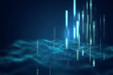 technologie abstrait géométrique bleu et fond de la science Banque d'images