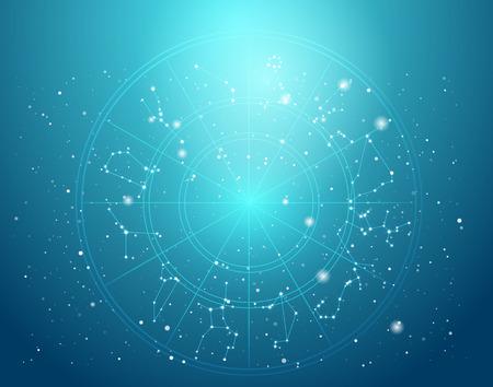 신성한 기호, 표지판, 기하학과 디자인의 배경 디자인은 점성술, 연금술, 마법, 마법과 운세에 그림에 대한 요소를 지원 제공