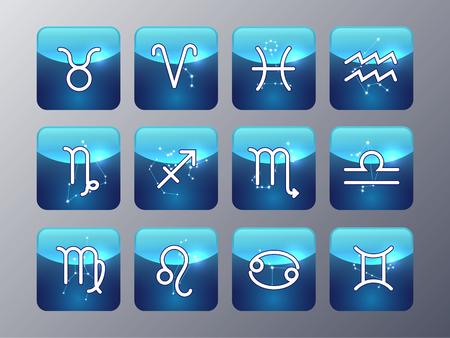 Conjunto de icono sagrado de la astrología representa concepto de la alquimia, la magia, la brujería y la adivinación del futuro
