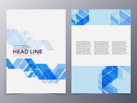 business graphics: business and technology brochure design template in A4 size  for use as company annual  report, poster