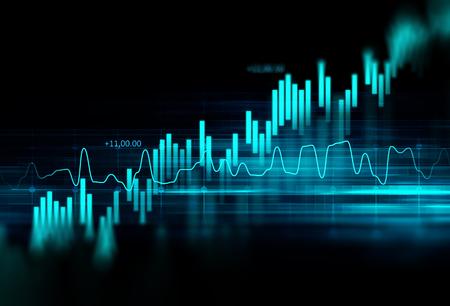 財務グラフ技術の抽象的な背景表現の金融危機、金融危機