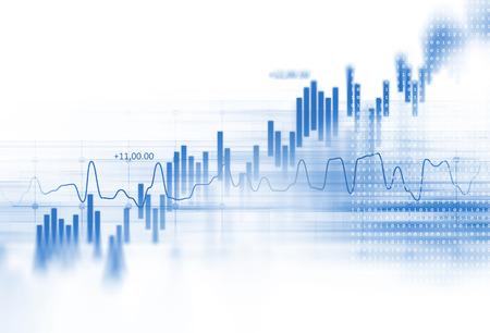 financiële grafiek op technologie achtergrond vertegenwoordigen financiële crisis, financiële kernsmelting Stockfoto