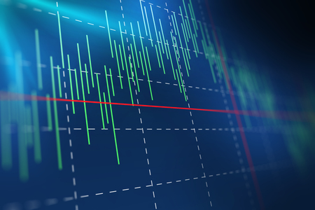 financial graph: financial graph on technology abstract background represent financial crisis,financial meltdown Stock Photo