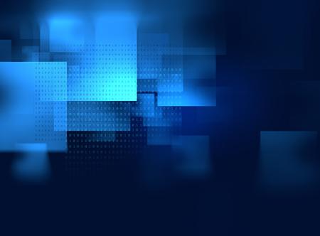 technologie abstrait géométrique bleu et fond de la science