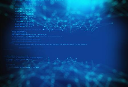 Programming code abstracte technologie achtergrond van de software ontwikkelaar en Computer script