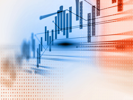 financial graph: financial stock market graph on technology abstract background