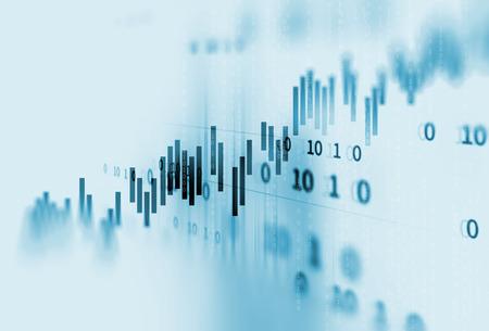 기술 추상적 인 배경에 금융 주식 시장 그래프