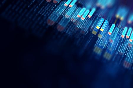 Kort Futuristische infographic met Visual data complexiteit vertegenwoordigen Big data concept, knooppunt base programmering
