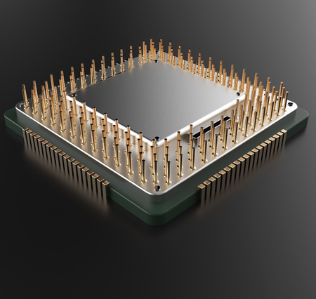 processors: 3d rendering of hi technology Central Computer Processors CPU with clipping path