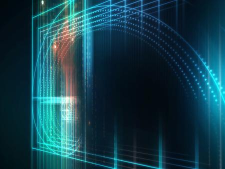 Gulden snede of goddelijk aandeel, concept van het ontwerp op technologie achtergrond