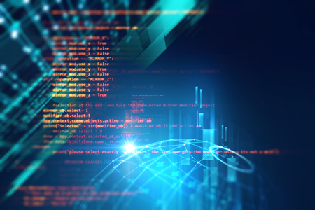 Programming code abstract technology background of software developer and  Computer script Stock Photo
