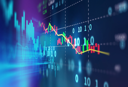 financial stock market graph on technology abstract background  Standard-Bild