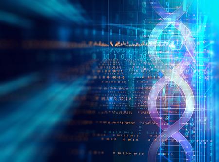 dna 분자 추상적 인 기술 배경, 생화학 및 유전 이론의 개념. 스톡 콘텐츠