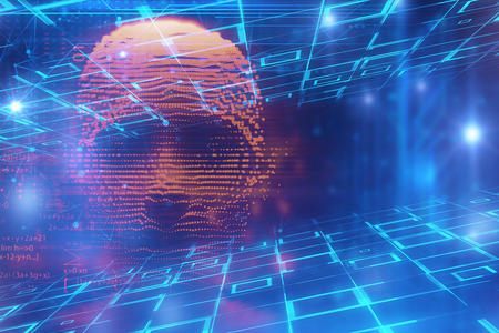 digital human hacker represent  danger of cyber criminal,hacker and ransomeware 3dillustration