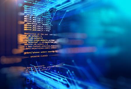 프로그래밍 코드 소프트웨어 개발자 및 컴퓨터 스크립트의 추상 기술 배경 스톡 콘텐츠