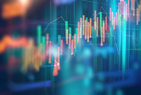 Finanzmarktdiagramm auf abstraktem Hintergrund der Technologie Standard-Bild - 84856492