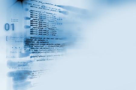 Programming code abstract technology background of software developer and  Computer script 写真素材
