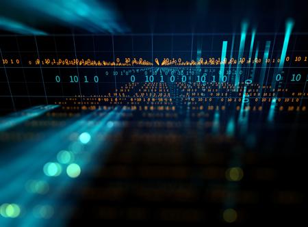 digitale codenummer abstracte achtergrond, vertegenwoordigen coderingstechnologie en programmeertalen. Stockfoto