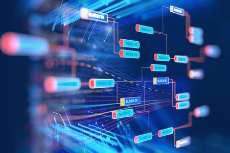 Estratto infografica futuristico con Visual Data la complessità, rappresentano Big concetto di dati, la programmazione di base nodo