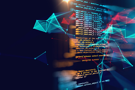 Programming code abstract technology background of software developer and  Computer script Stock fotó