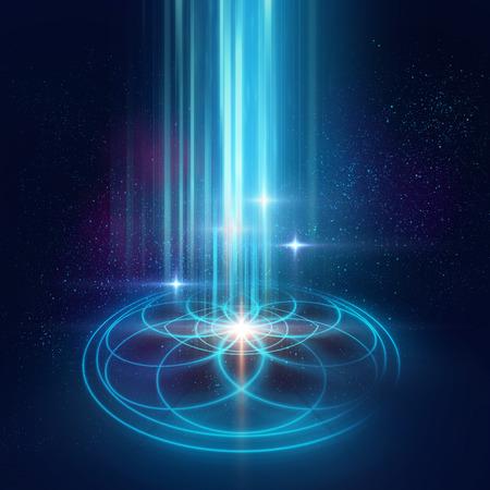 점성술 및 영성 테마. 물질, 공간 및 시간. 우주에서의 과학. 황금 비율.