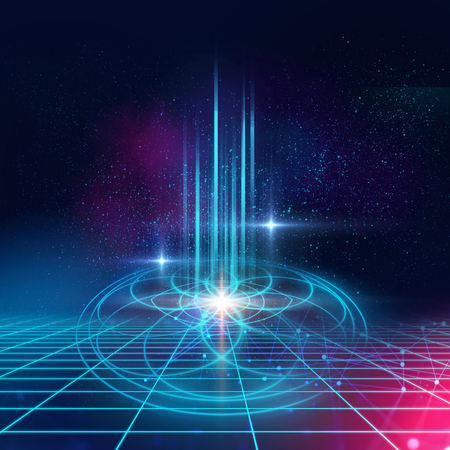 astrology and spirituality themes. Matter, space and time. Science in Universe. Golden  ratio.  Stock Photo
