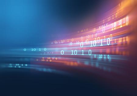 cyfrowy numer kodu abstrakcyjne tło, reprezentuje technologię kodowania i języki programowania.