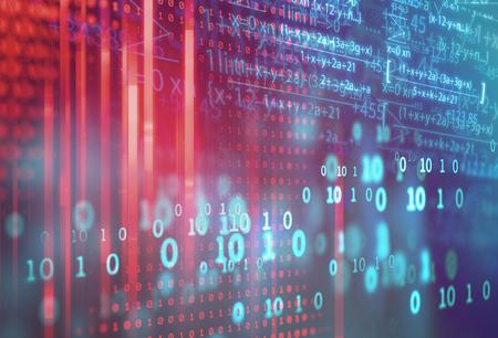 fórmula de la ciencia y la ecuación matemática resumen de antecedentes. concepto de aprendizaje automático e inteligencia artificial.