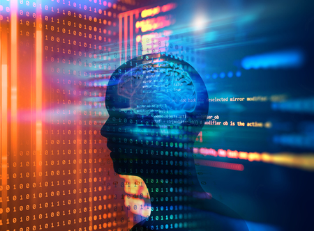 Programmiercode abstrakter Technologiehintergrund von Softwareentwicklern und Computerskript and