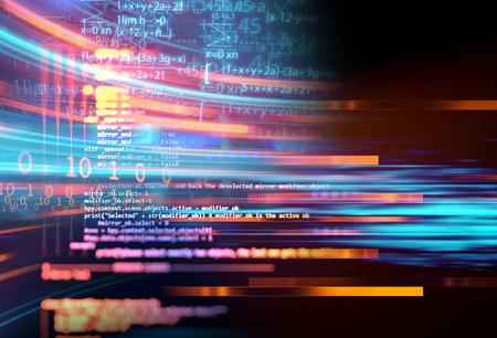 ビジュアルデータの複雑性を持つ抽象的な未来的なインフォグラフィック 、 ビッグデータ概念、ノードベースプログラミングを表す 写真素材