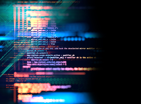 Programming code abstract technology background of software developer and  Computer script Stok Fotoğraf