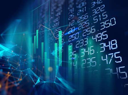 financial graph on technology abstract background represent financial crisis,financial meltdown 免版税图像 - 158172760