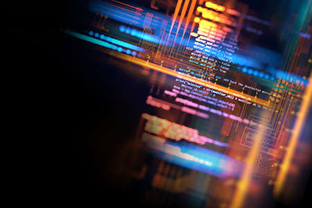 futuristic  circuit board abstract background 3d illustration 免版税图像