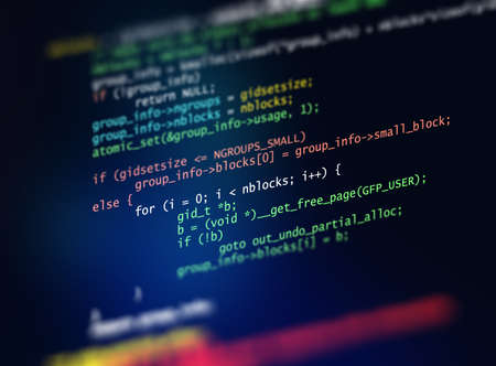 Programming code abstract technology background of software developer and  Computer script 3d illustration