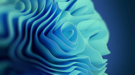 abstract fractal flower pattern , concept of generative art , 3d illustration
